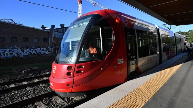 Parts of Sydney's light rail has started to operate. Picture: Joel Carrett