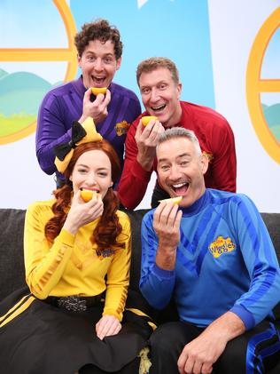 The Wiggles were the first to accept Annabelle's Lemon Face Challenge to raise awareness for DIPG. Picture: Sam Ruttyn