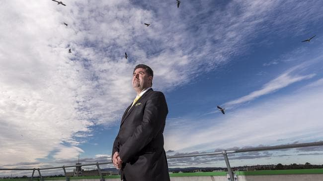 Dandenong Mayor Jim Memeti, on the rooftop of the Greater Dandenong City Council Office. Picture: Daniel Pockett