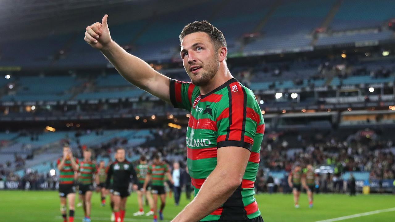 Sam Burgess of the Rabbitohs might've been 'thumbs up' here, but for SuperCoach owners he was a 'thumbs down' selection