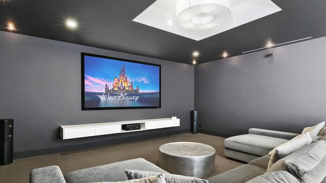 The home theatre recreates the big screen feel.