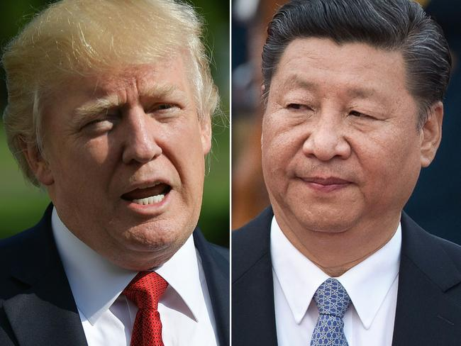 US President Donald Trump and Chinese President Xi Jinping are in the midst of a trade war. Picture: AFP