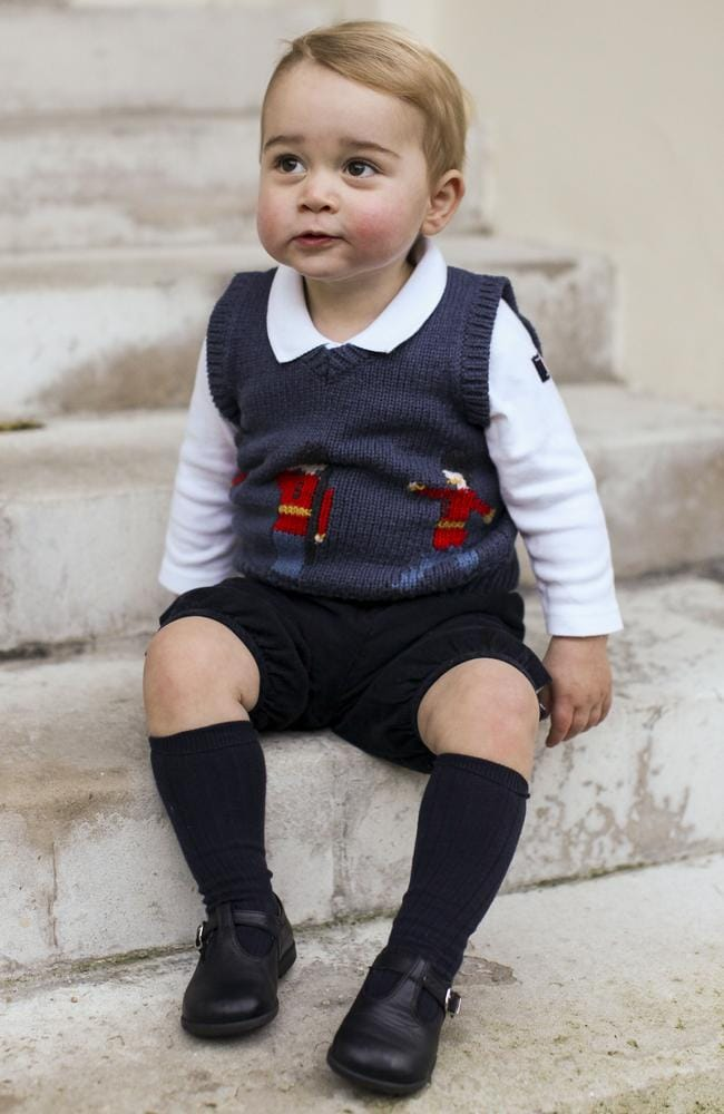Big brother ... the world is waiting for the birth of Prince George's sibling. Picture: AFP