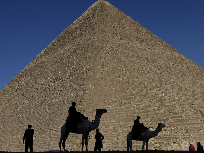 The discovery could help unlock the secret of how the Great Pyramid in Giza was built. Picture: AP