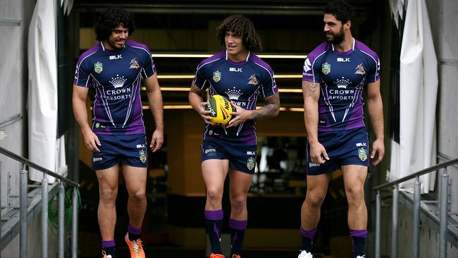 Melbourne Storm Kiwi players Tohu Harris, Kevin Proctor and Jesse Bromwich.