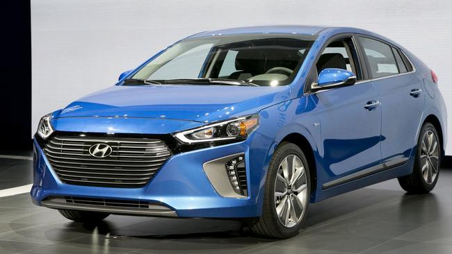 The Hyundai Ioniq will hit Australia soon. Picture: Mark Lennihan