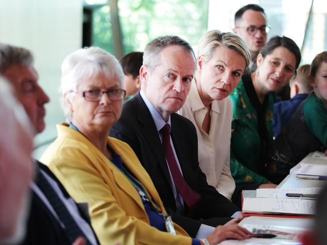 Opposition Leader Bill Shorten and Deputy Leader Tanya Plibersek met with stakeholders and activists of the LGBTI community in Surry Hills. Picture: News Corp Australia.