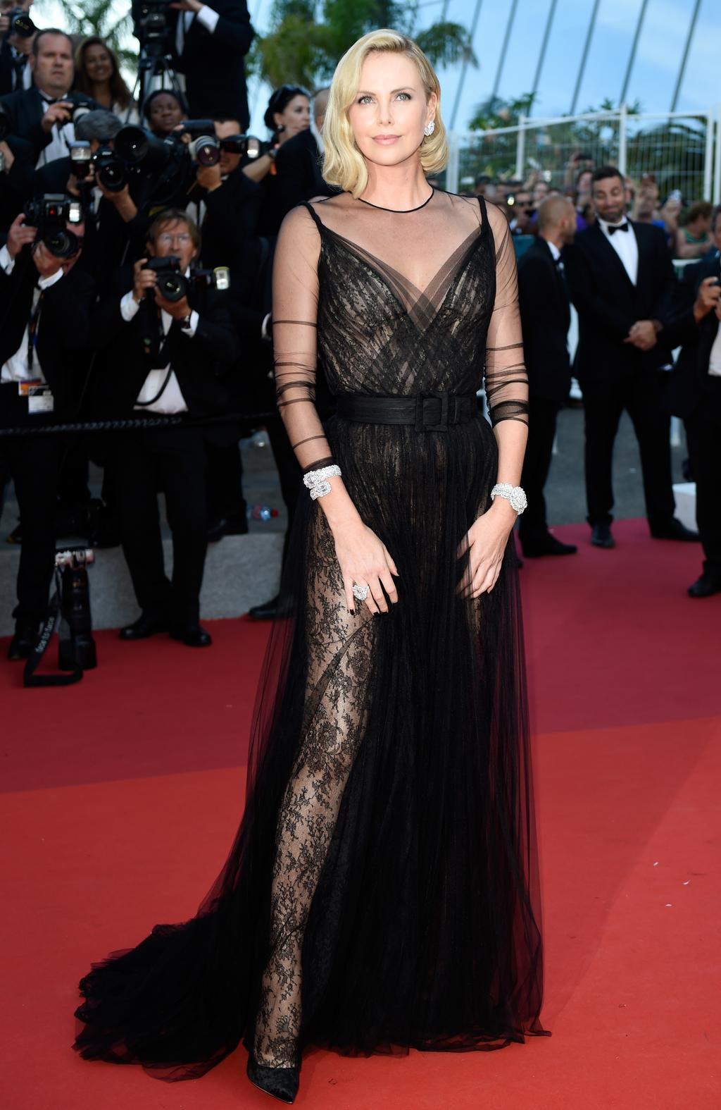 65c632f1e2a Charlize Theron attends the 70th Anniversary of the 70th annual Cannes Film  Festival at Palais des