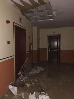 Scott Madley raised concerns about the state of the hotel before the ceiling collapse. Picture: Deadline News