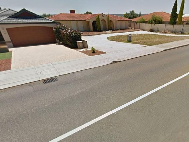 "Brad Edwards' parents were a 'normal family"" who lived on this street in Perth's southeast. Picture: Google."