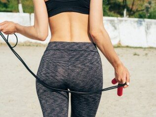 Skipping, sans undies. Photo: iStock