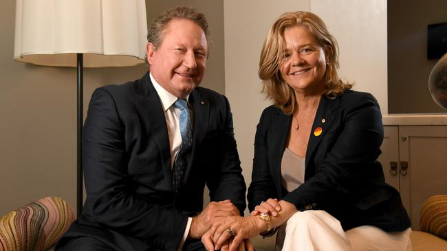 Andrew and Nicola Forrest have pledged $70 million to relief efforts. Picture: Tricia Watkinson