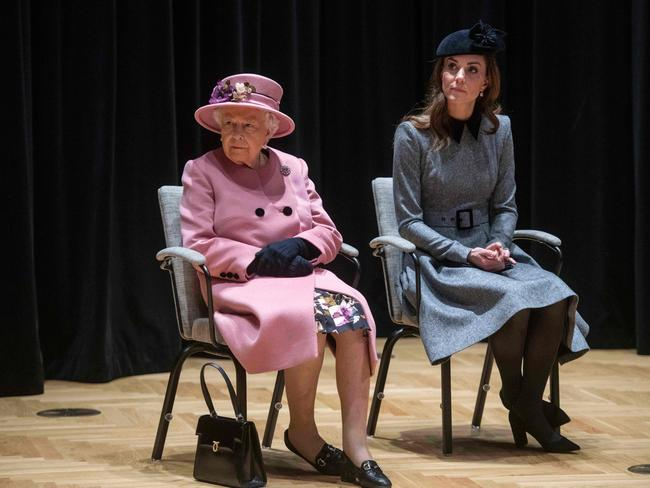 The two made their first royal joint appearance together. Picture: AFP