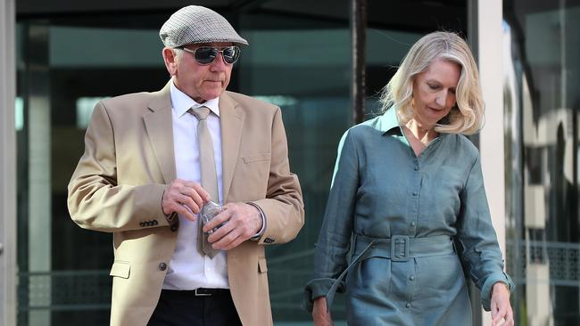 Don Spiers and Carol Spiers, the parents of Sarah Spiers arrive at the Supreme Court of Western Australia in Perth. Picture: Paul Kane/Getty Images