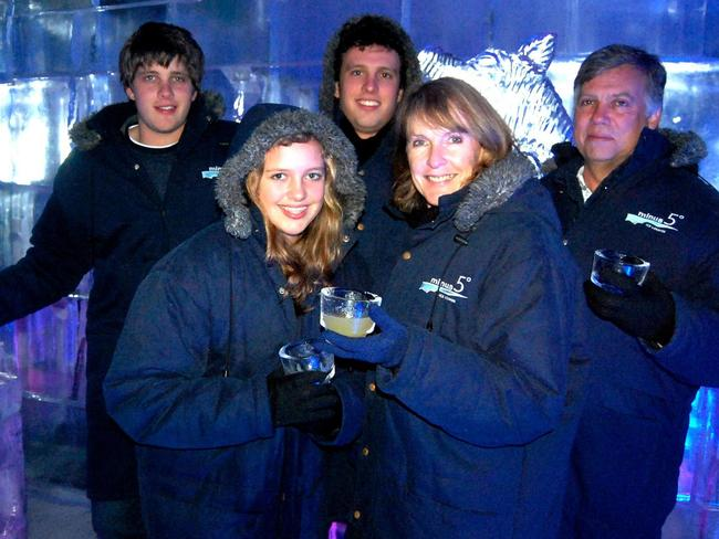 Martin and Teresa van Breda with their daughter Marli and sons Henri and Rudi, 22, before the horror attack. Picture: Facebook