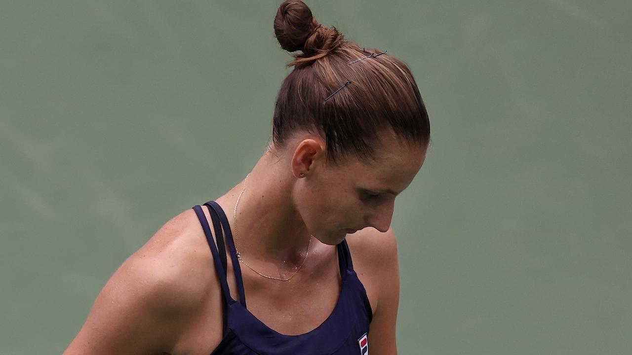 Karolina Pliskova has been knocked out of the US Open.