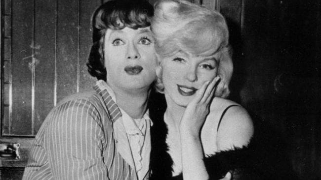 Tony Curtis (left) and Marilyn Monroe. Photo: AP