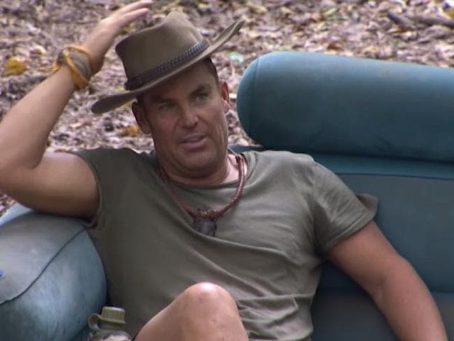 Shane Warne openly said he was disappointed to be voted out with the finale approaching. Picture: Channel Ten