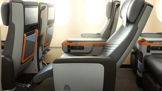 Premium economy class seats, perhaps similar to these on Singapore Airlines' A380s, will be the cheapest seats on the Singapore to New York route.