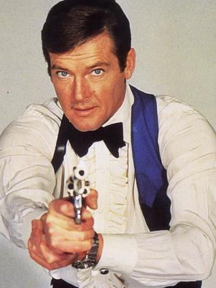 Roger Moore is the longest-serving James Bond actor. Picture: Supplied