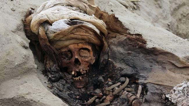 It is the biggest ever discovery of child sacrifice in the world. Picture: Luis Puell/Andina/AFP
