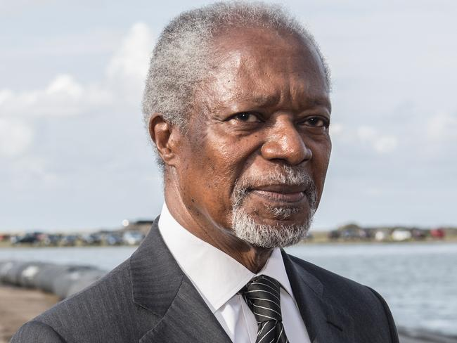 "Kofi Annan, former Secretary-General of the United Nations, is said to have died ""peacefully"" after a short illness. Picture: MEGA"