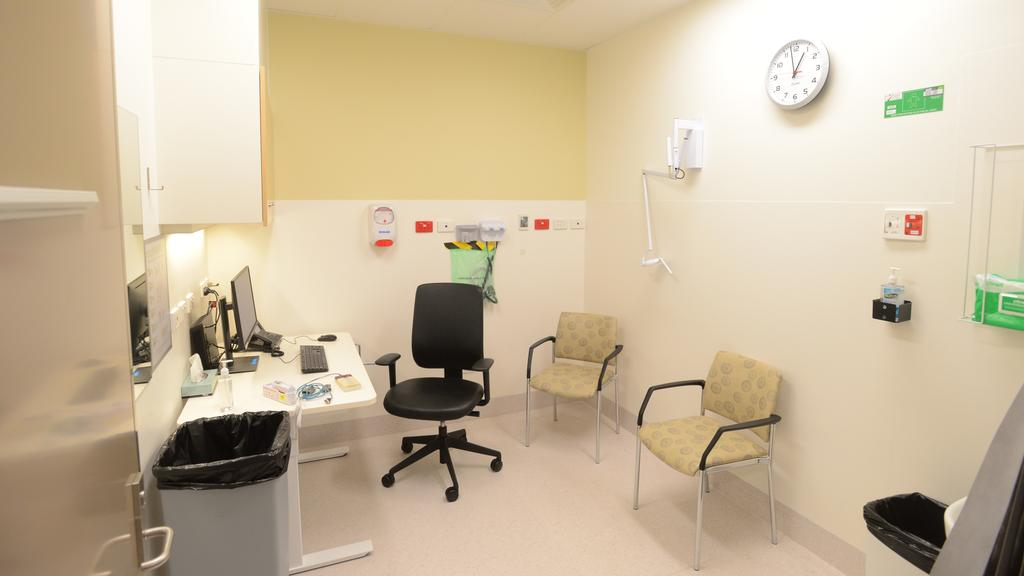 Inside the coronavirus testing clinic at at the RAH. Picture: AAP / Sam Wundke