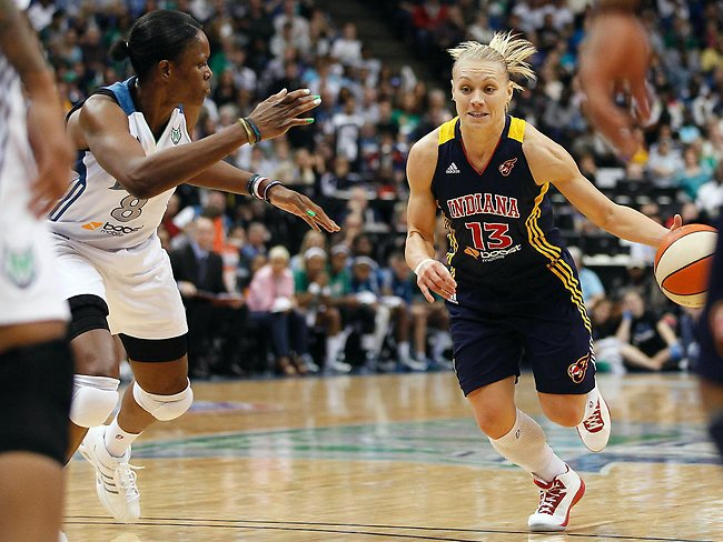 South Australian basketballer Erin Phillips in action for Indiana Fever. Picture: Stacy Bengs.