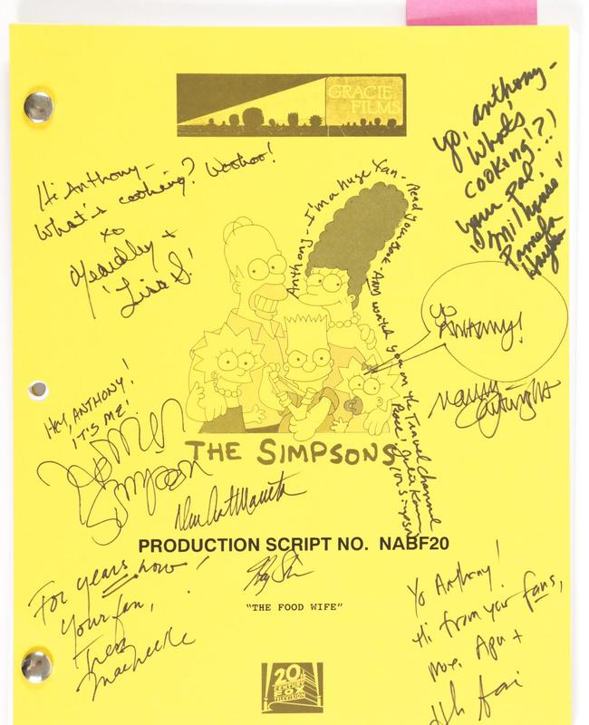 The script is signed by the whole cast. Picture: iGavel Auctions