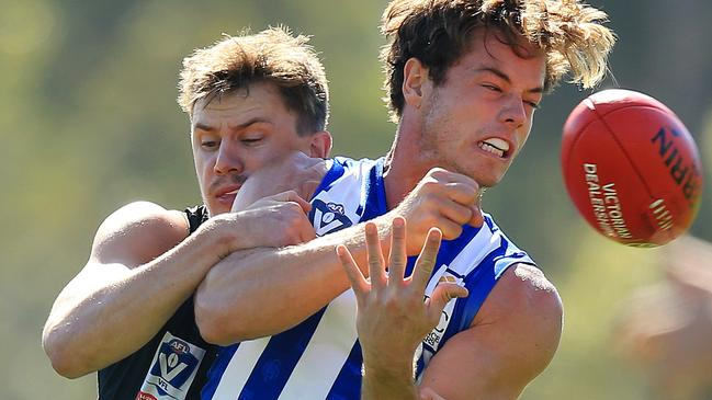 Tom Wilkinson in action for North Melbourne's VFL side. Picture: Mark Stewart