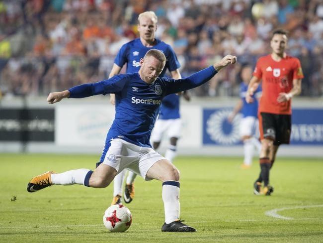 Everton's Wayne Rooney.