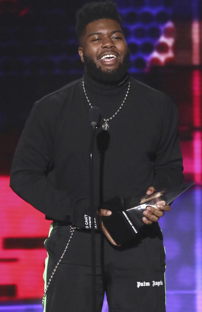 Saved singer Khalid and his AMA. Picture: AP