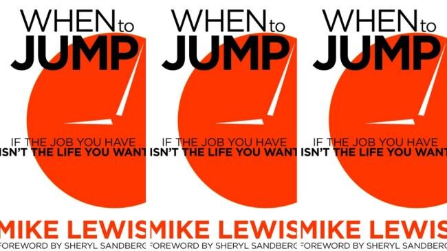 Mike Lewis' book 'When To Jump'. Photo: Supplied