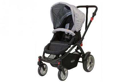 """STEELCRAFT CRUISER CARRIER: Get a complete baby travel system with this clever pram. It's compact, lightweight and easy to steer and features a reversible seat with three recline positions, a large canopy with viewing window, front lockable swivel wheels for greater manoeuvrability, one link brake and a large shopping basket. It includes shoulder pads and full PVC rain cover. Part of the Steelcraft Travel System, this pram is compatible with the Steelcraft Cruiser Infant Carrier, which means you can pop bub straight from the car in their capsule and on to the pram without disturbing them.  <a href=""""http://www.target.com.au/p/steelcraft-cruiser-carrier-silver/50273157"""">BUY IT HERE</a>"""