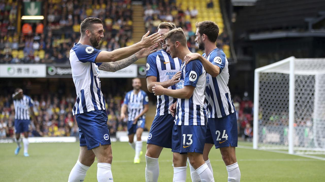 A new coach and a new approach: Brighton are a different package this year. (Nick Potts/PA via AP)