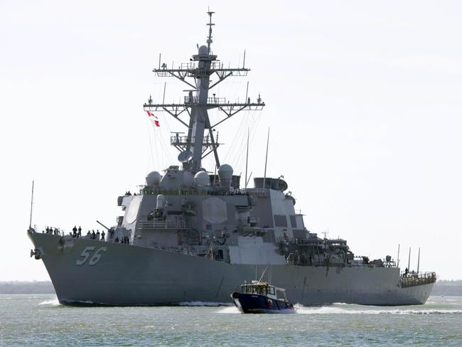 The USS John S McCain has collided with a merchant ship off the coast of Singapore.
