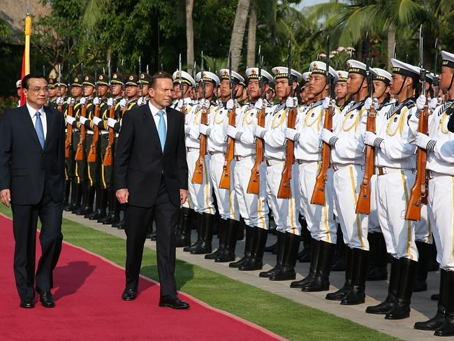 Free trade, investment and defence ... A busy time for Chinese Premier Li Keqiang and Australia's Prime Minister Tony Abbott.