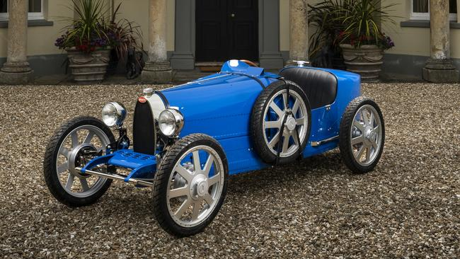 The car can be set with two top speeds: one for kids and another for adults. Picture: Supplied.