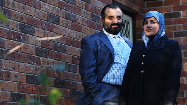 Keysar Trad and wife Hanifeh. Trad believes that Australia should follow Britain's lead by allowing legal recognition of polygamist marriages. (Pic: Supplied)