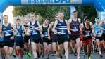 Elite runners at the start of the Bridge to Brisbane 5km race, Brisbane, Sunday August 25, 2019. (AAP/Image Sarah Marshall)