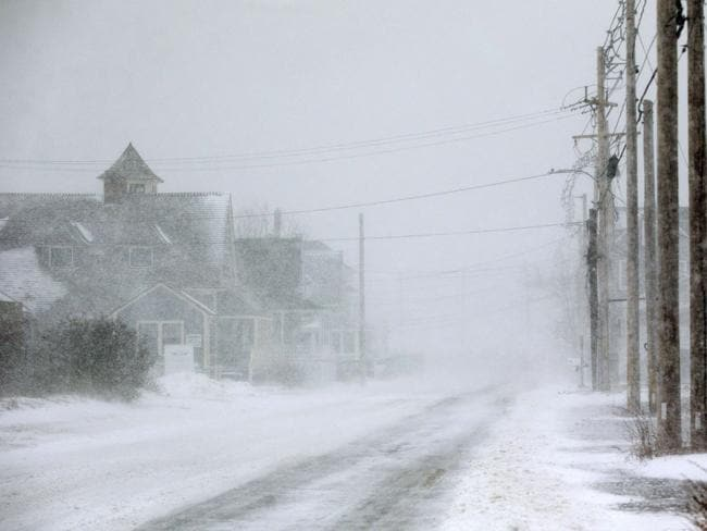 White-out conditions in Hull, Massachusetts. Picture: Scott Eisen/Getty Images/AFP