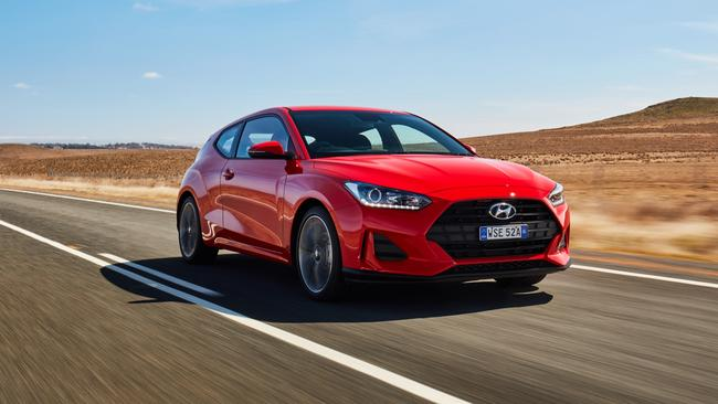 The Veloster finds the middle ground between a hatchback and sports car.