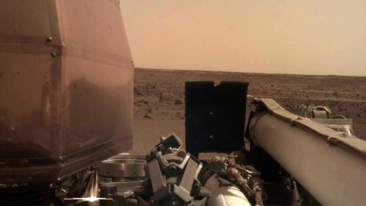 NASA rover sends back 'selfie' after landing on Mars