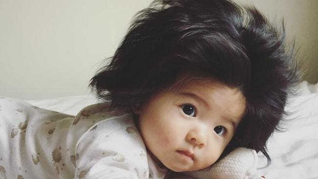 Six Month Old Baby Has 40000 Followers On Instagram Thanks To Her Incredible Mop Of Hair
