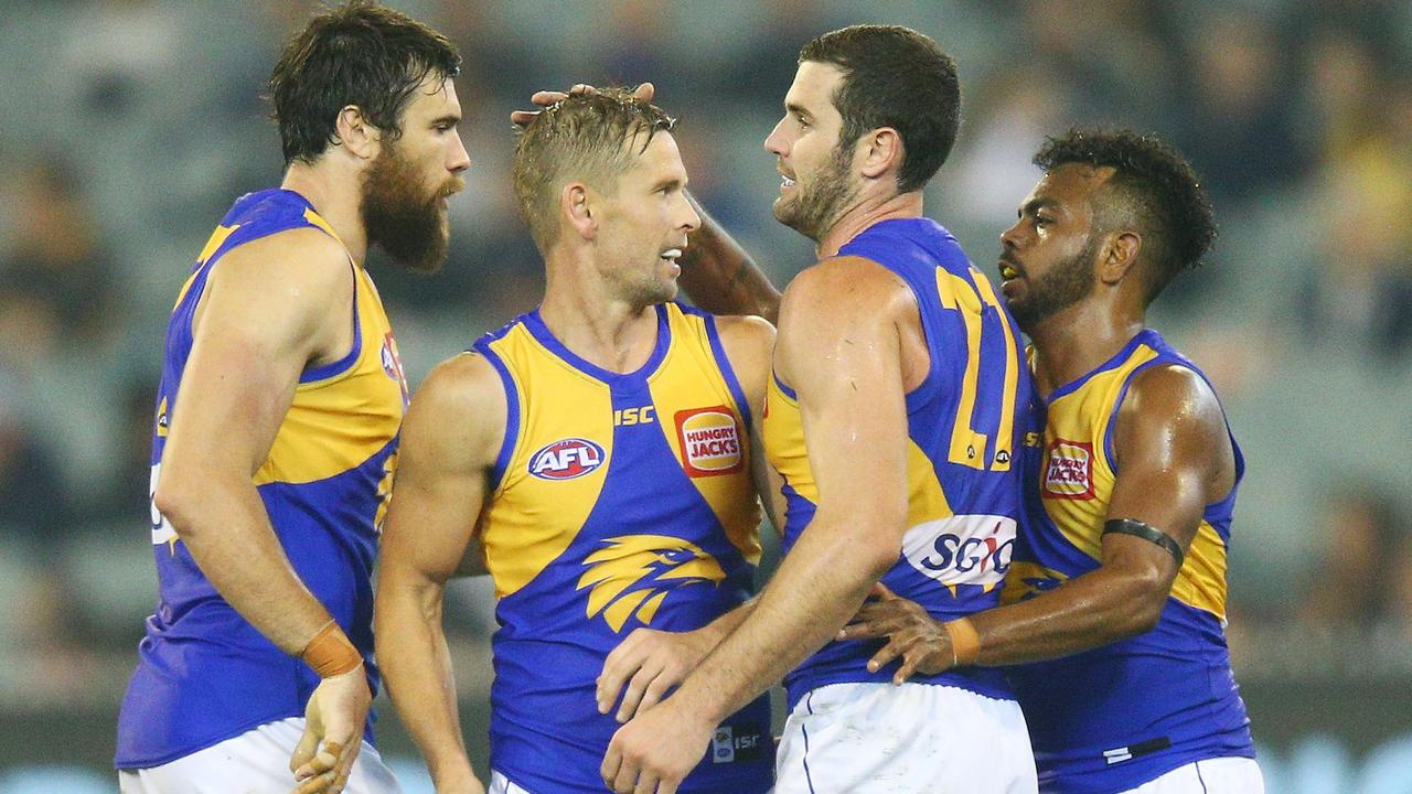 Mark LeCras, Josh Kennedy and Jack Darling are all set to return for West Coast. (Photo by Michael Dodge/Getty Images)