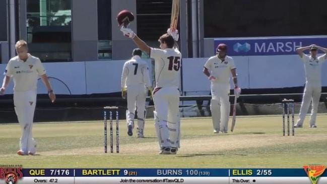Burns makes century as Bulls collapse