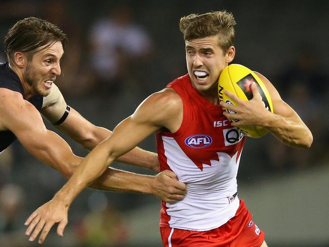 Sydney's Jake Lloyd will be hoping for more midfield time in 2016.