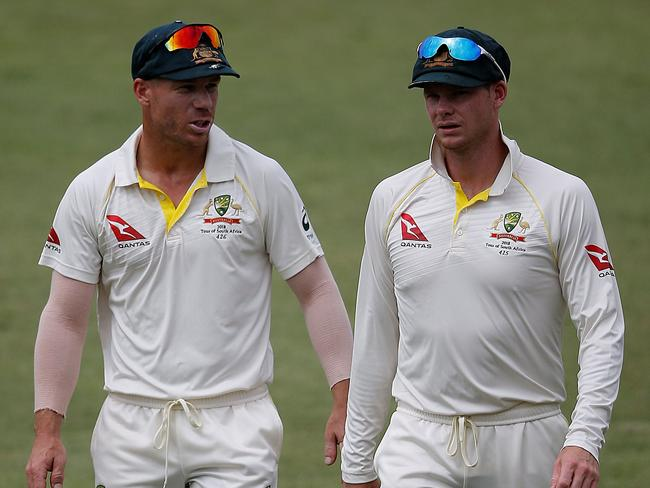 The Australian team has undergone major changes as David Warner (L) and Steve Smith serve year-long bans. Pic: AFP