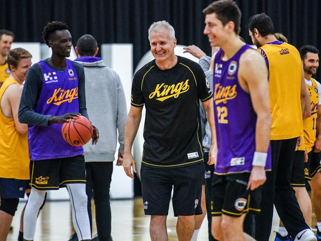 Andrew Gaze couldn't be happier with the Sydney Kings roster. Picture: AAP
