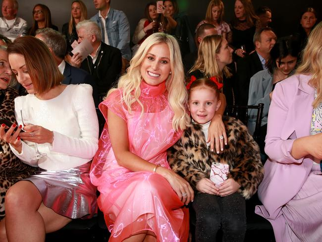 Roxy Jacenko and her daughter Pixie Curtis front row. Picture: Toby Zerna